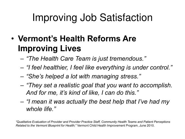 Improving Job Satisfaction