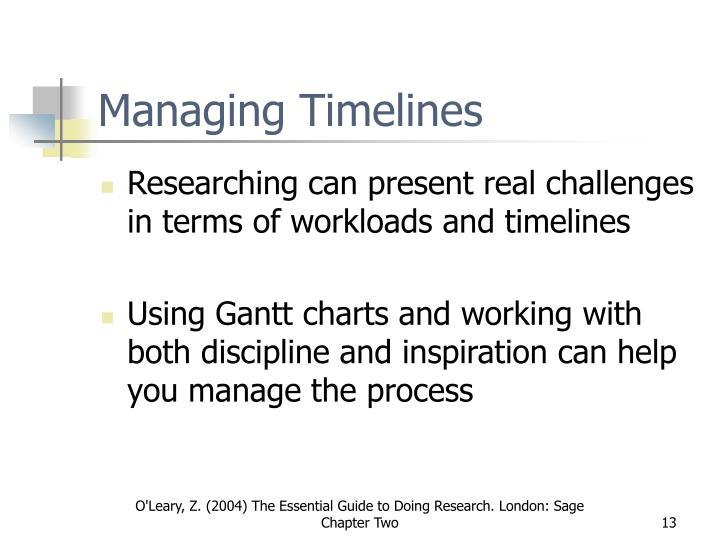 Managing Timelines