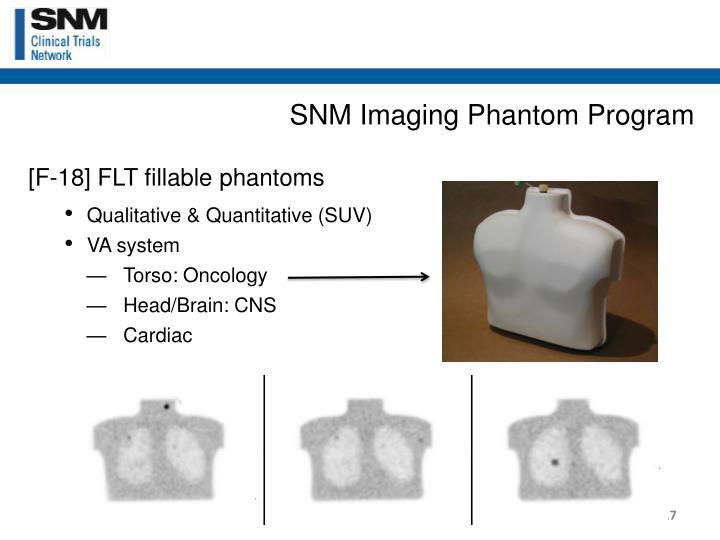SNM Imaging Phantom Program