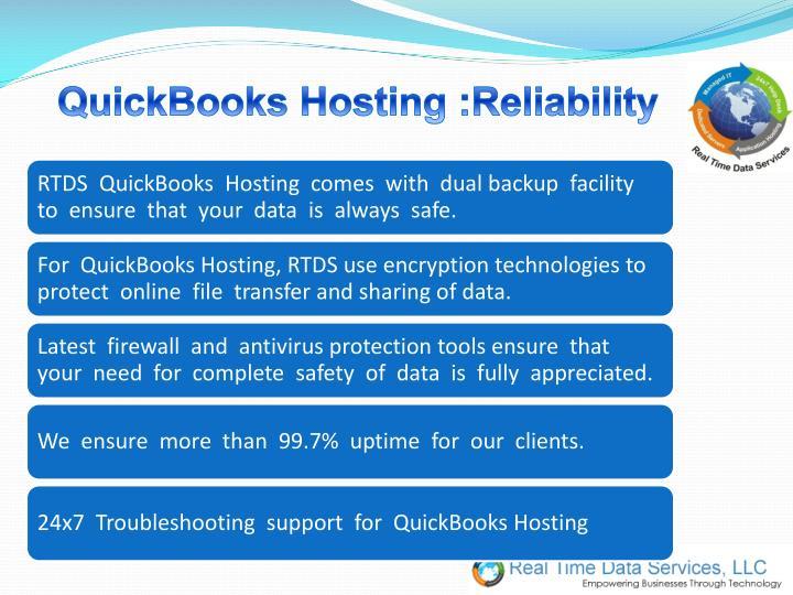 QuickBooks Hosting :Reliability