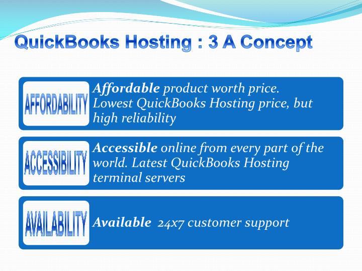 QuickBooks Hosting : 3 A Concept