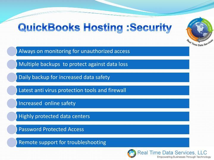 QuickBooks Hosting :Security