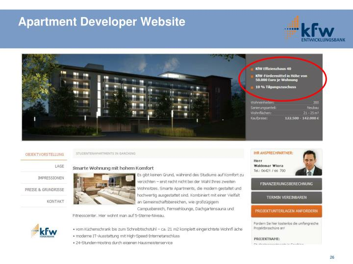 Apartment Developer Website