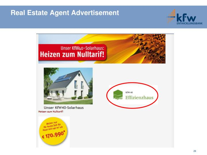 Real Estate Agent Advertisement