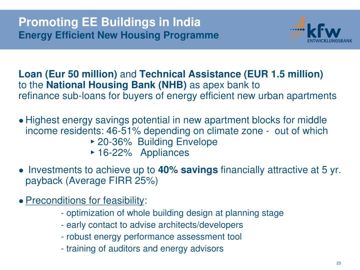 Promoting EE Buildings in India