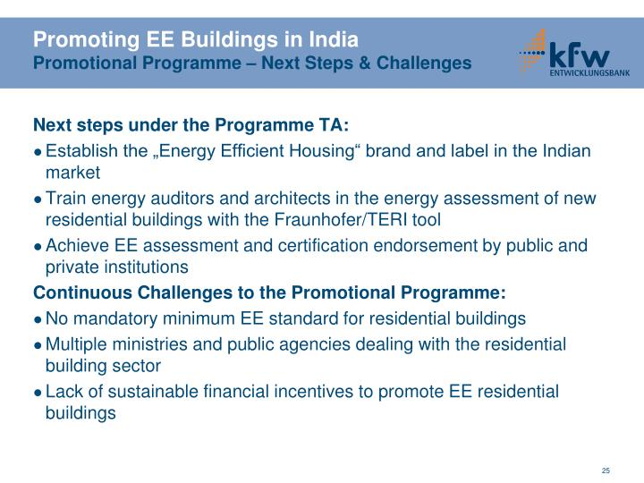 Promoting EE Buildings in India