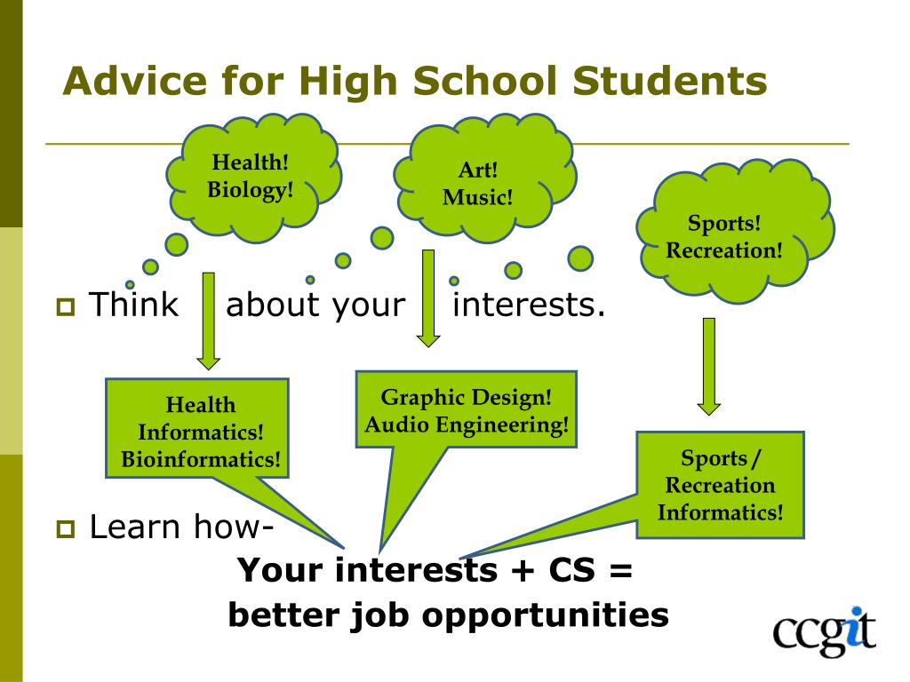 Advice for High School Students