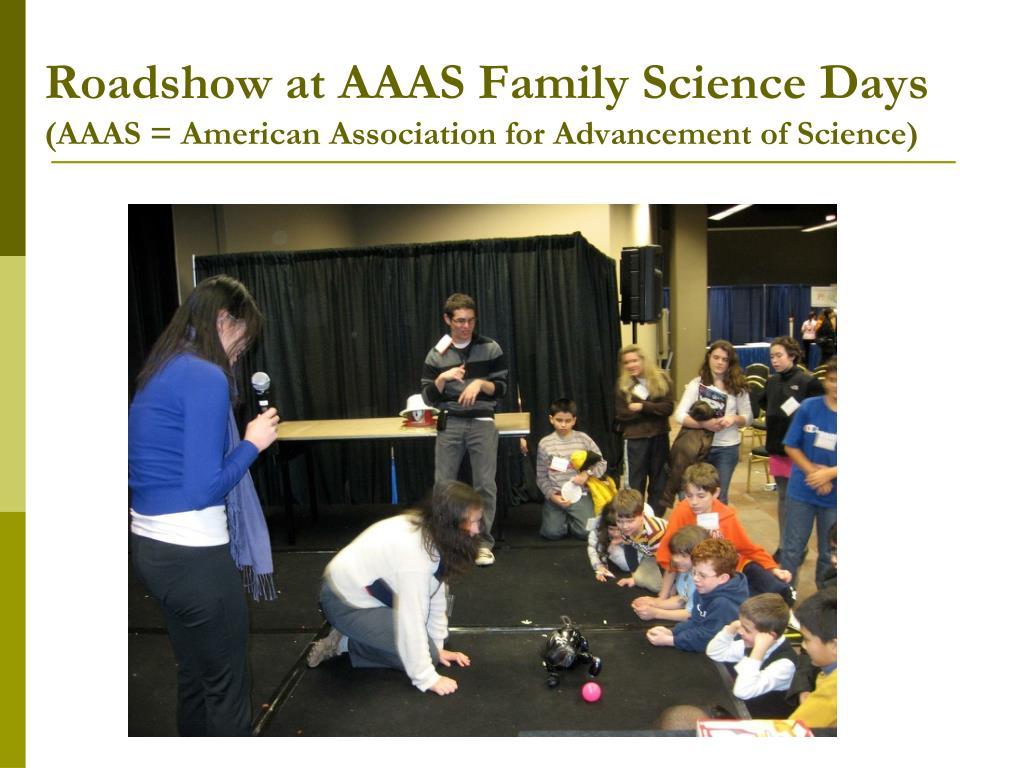Roadshow at AAAS Family Science Days