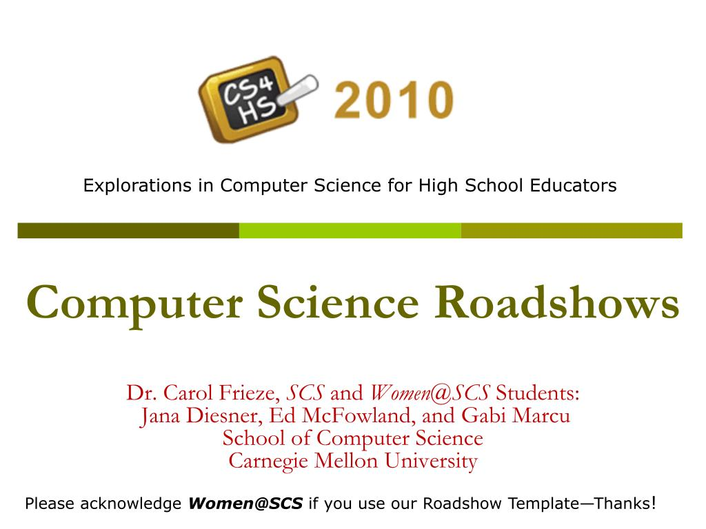 Computer Science Roadshows