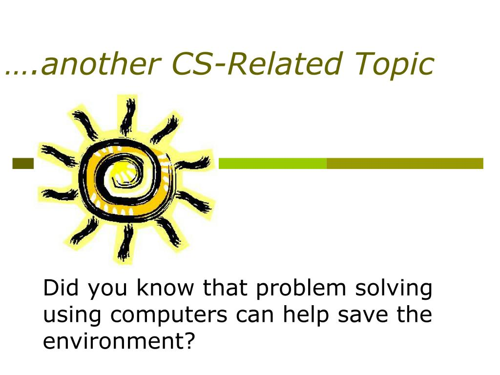 ….another CS-Related Topic