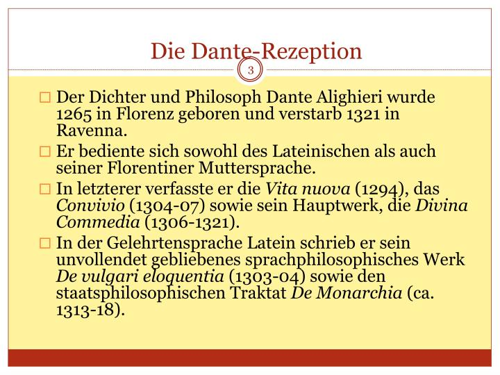 Die dante rezeption1