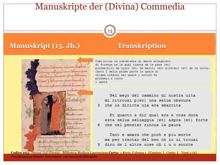 Manuskripte der (