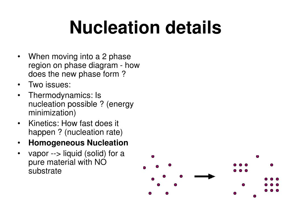Nucleation details