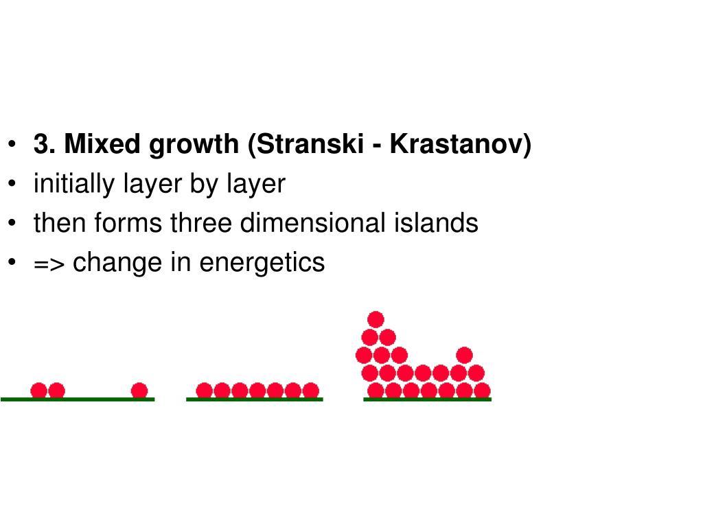 3. Mixed growth (Stranski - Krastanov)