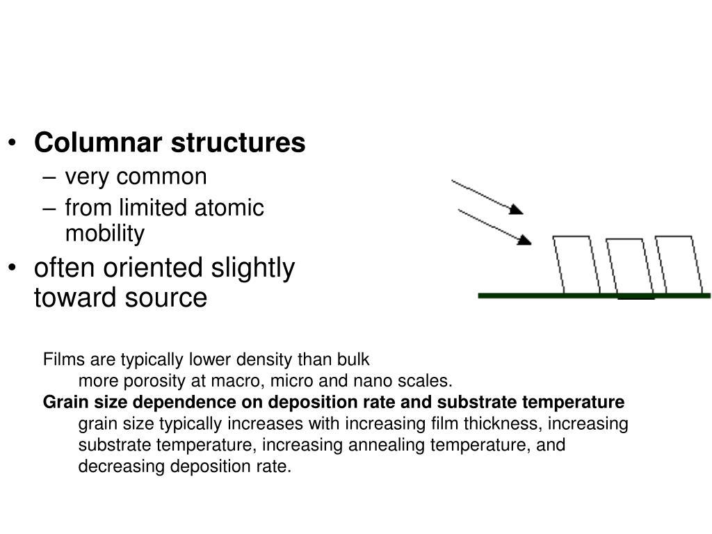 Columnar structures