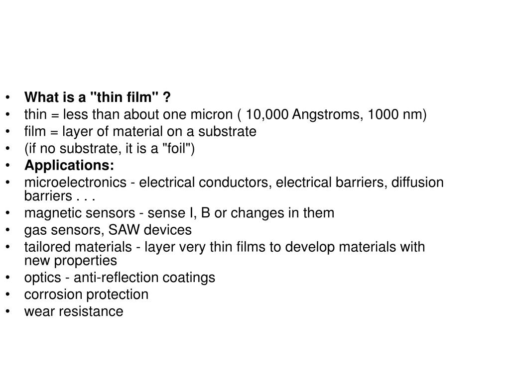 """What is a """"thin film"""" ?"""