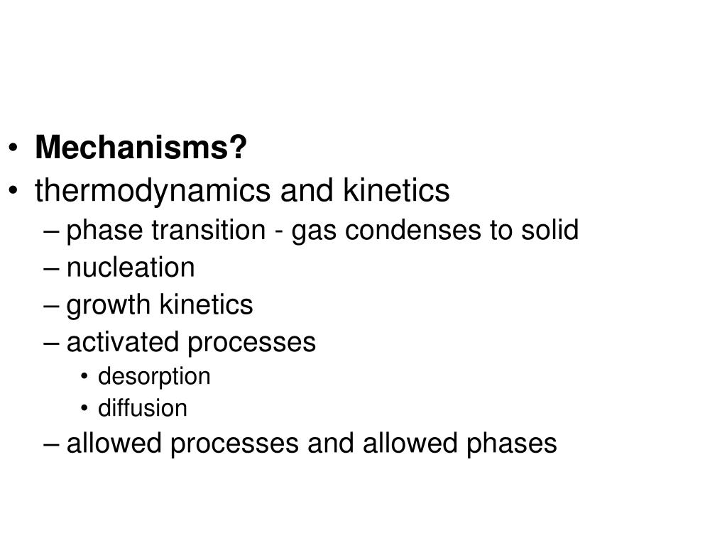 Mechanisms?