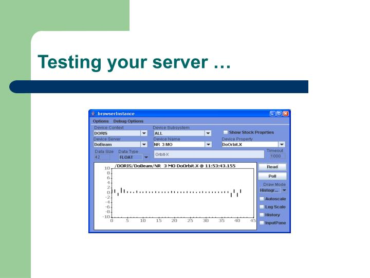 Testing your server …