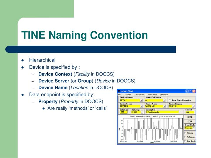 TINE Naming Convention
