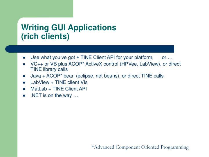 Writing GUI Applications