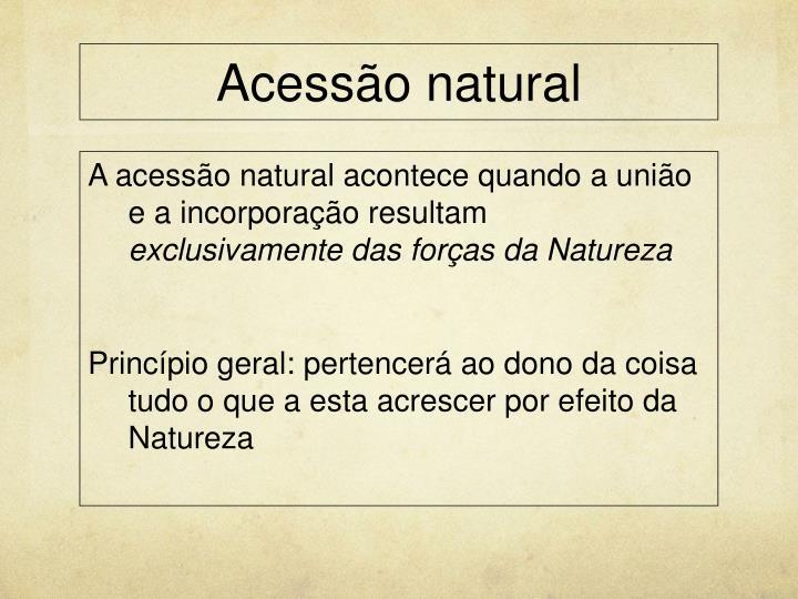 Acessão natural