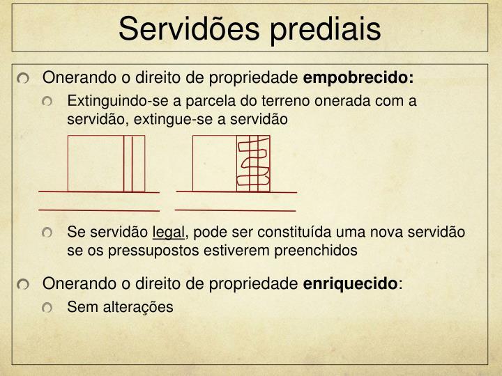 Servidões prediais