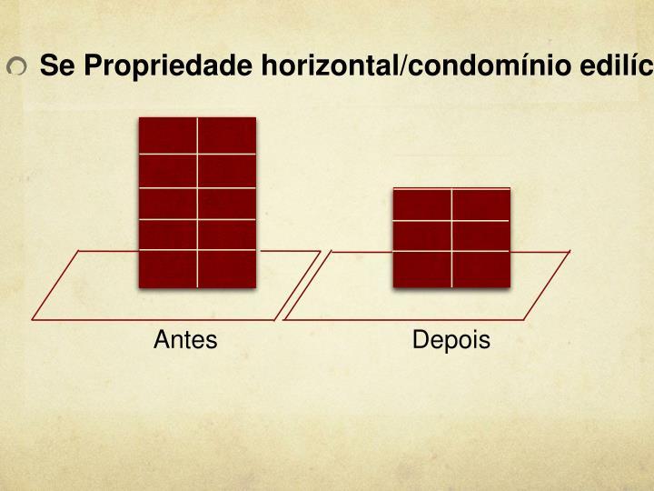 Se Propriedade horizontal/condomínio edilício