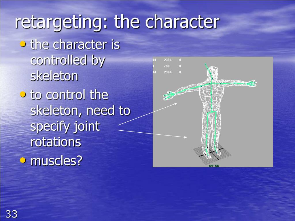 retargeting: the character