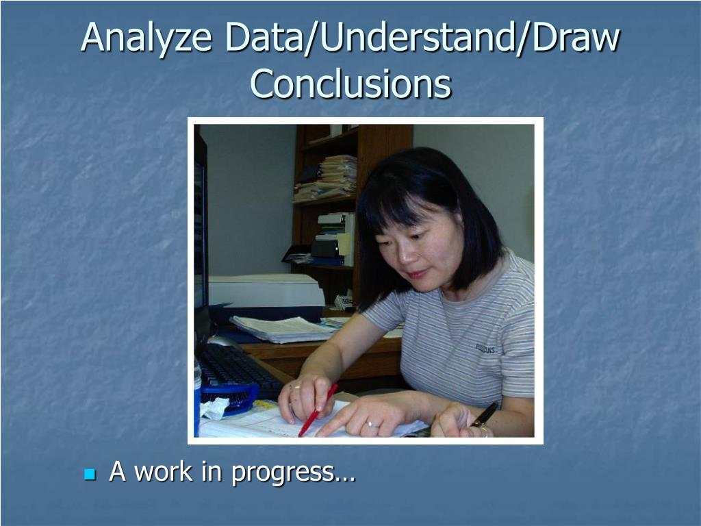 Analyze Data/Understand/Draw Conclusions