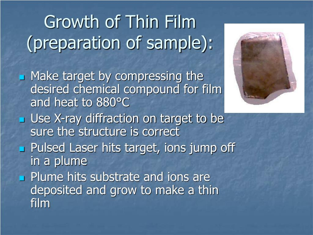 Growth of Thin Film