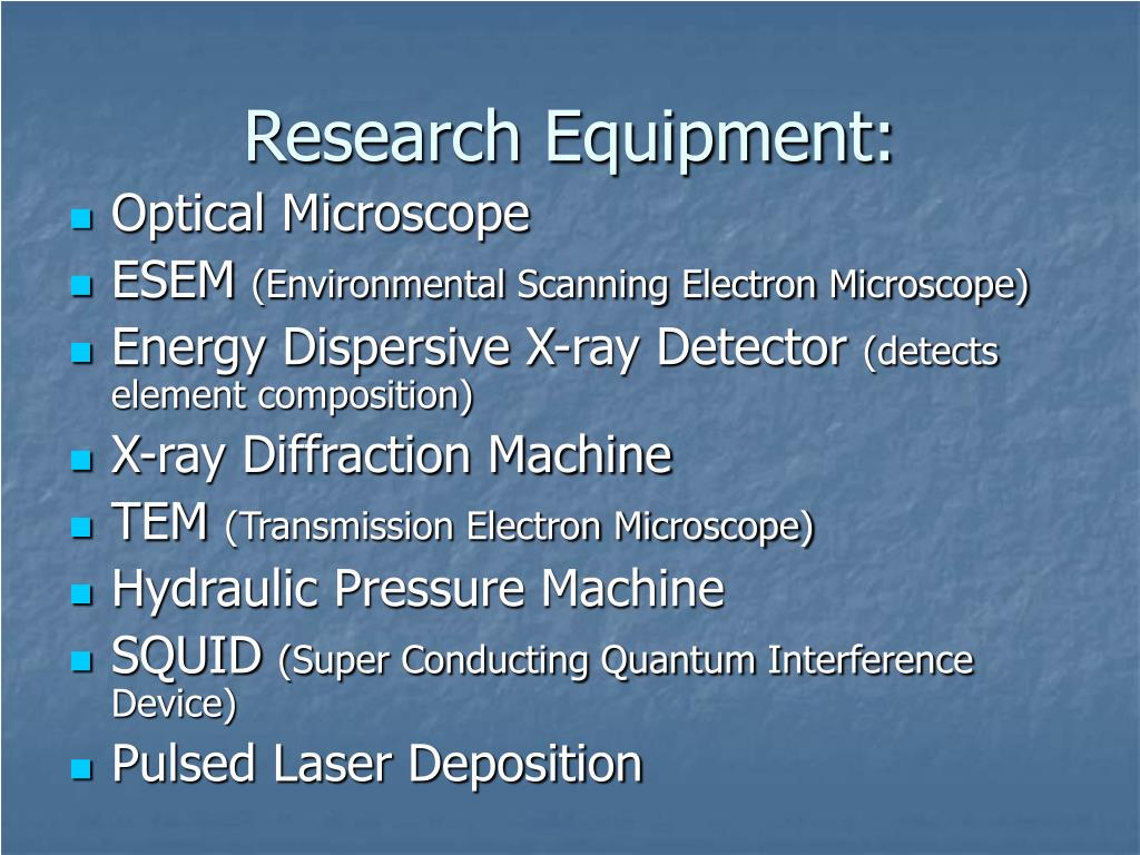Research Equipment: