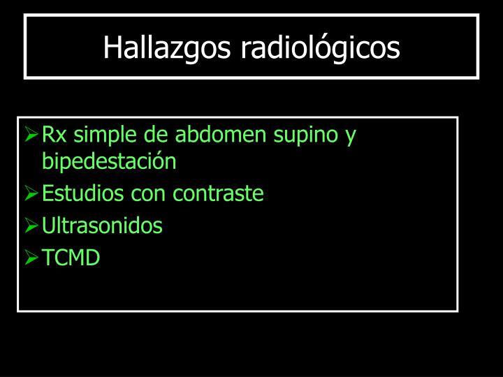 Rx simple de abdomen supino y bipedestación