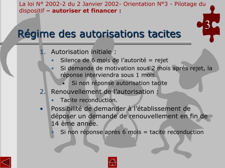 La loi N° 2002-2 du 2 Janvier 2002- Orientation N°3 - Pilotage du dispositif