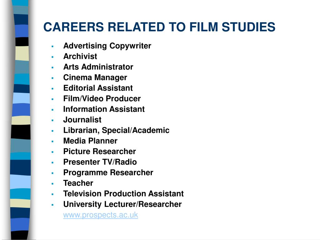 CAREERS RELATED TO FILM STUDIES
