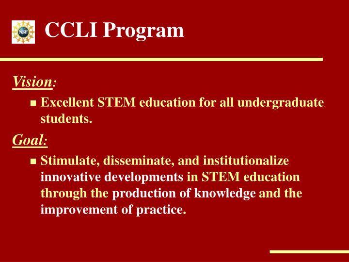 CCLI Program