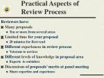 practical aspects of review process