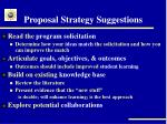 proposal strategy suggestions