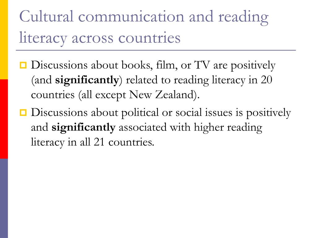 Cultural communication and reading literacy across countries