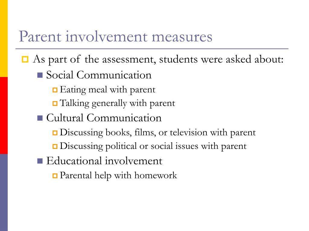 Parent involvement measures