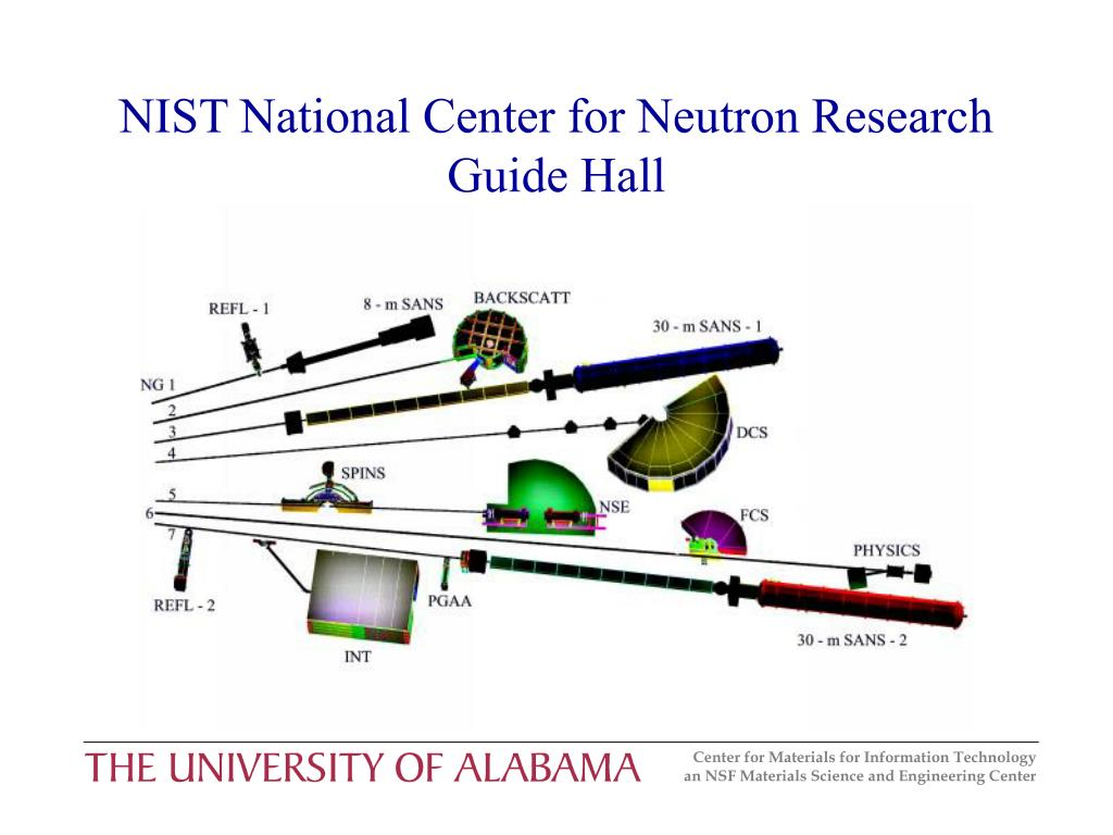 NIST National Center for Neutron Research Guide Hall