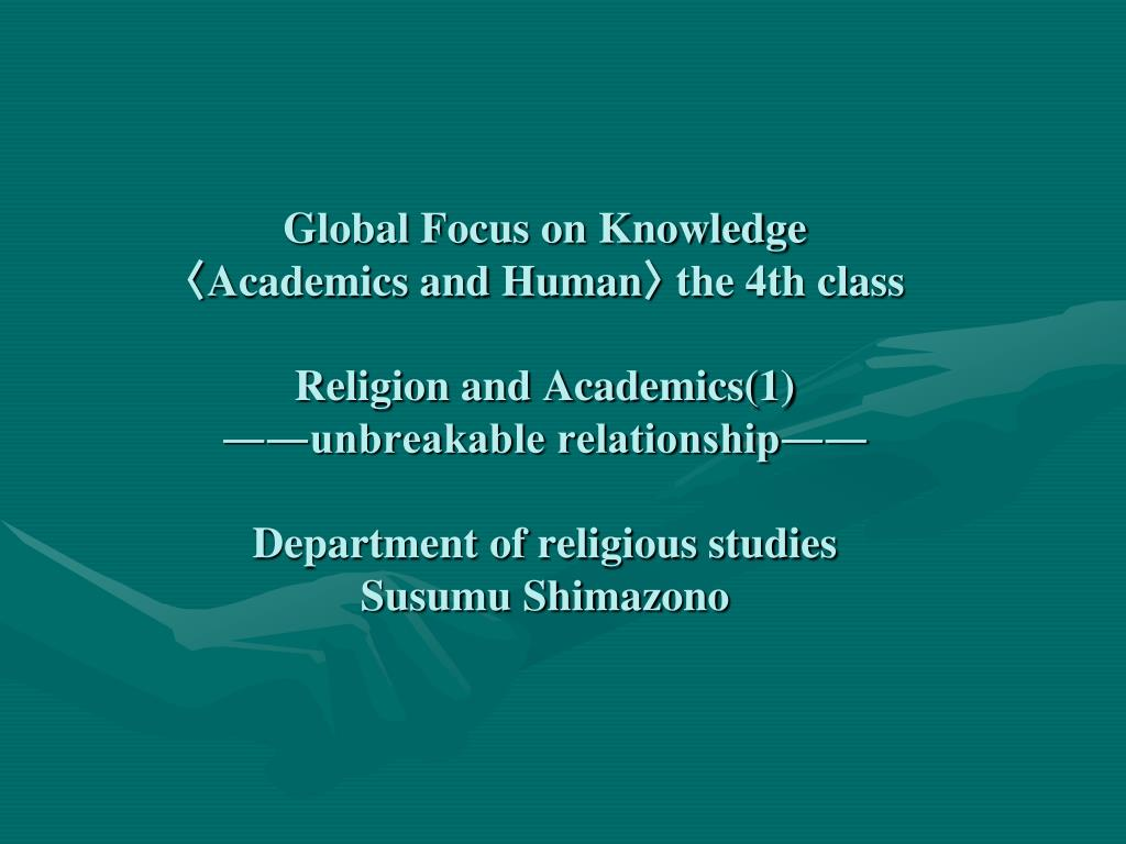 Global Focus on Knowledge