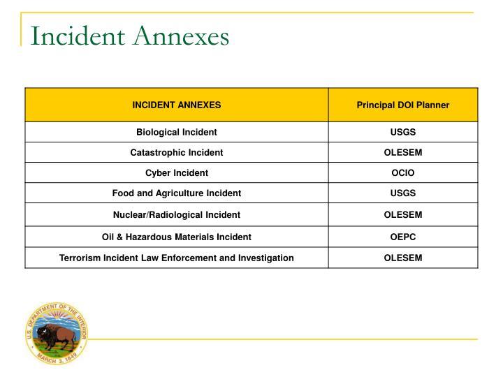 Incident Annexes