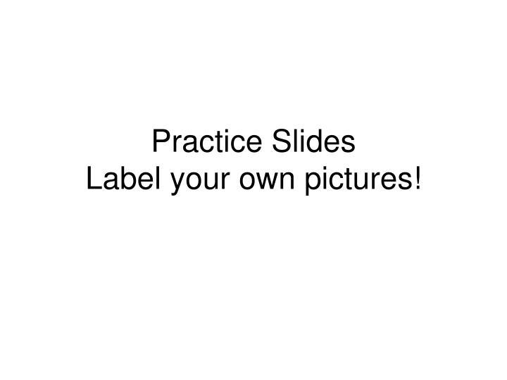 Practice Slides
