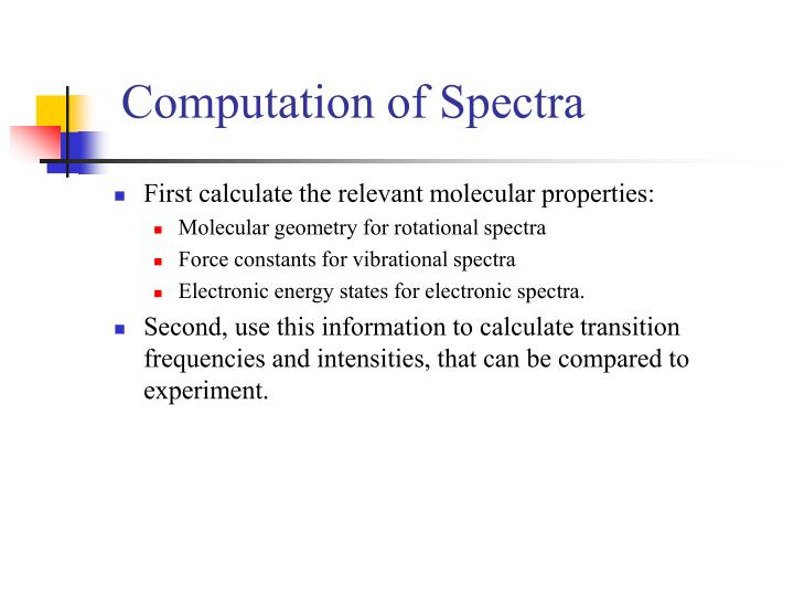 Computation of Spectra
