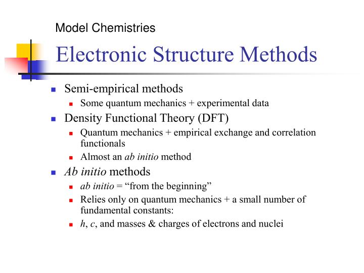Model Chemistries