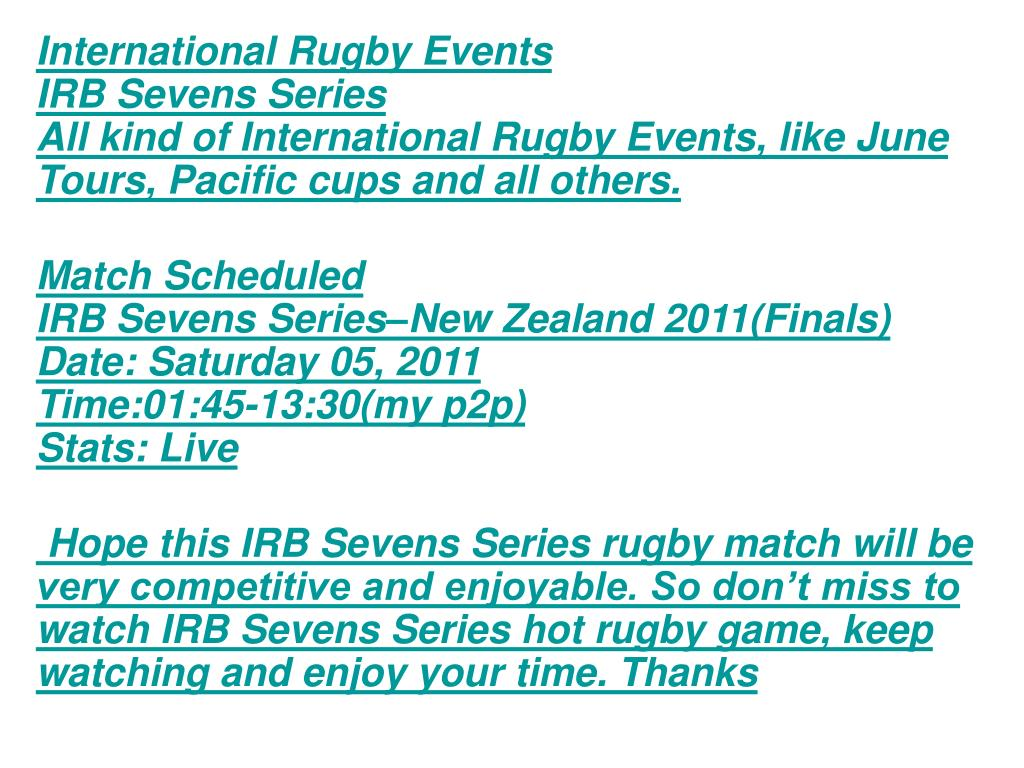 International Rugby Events