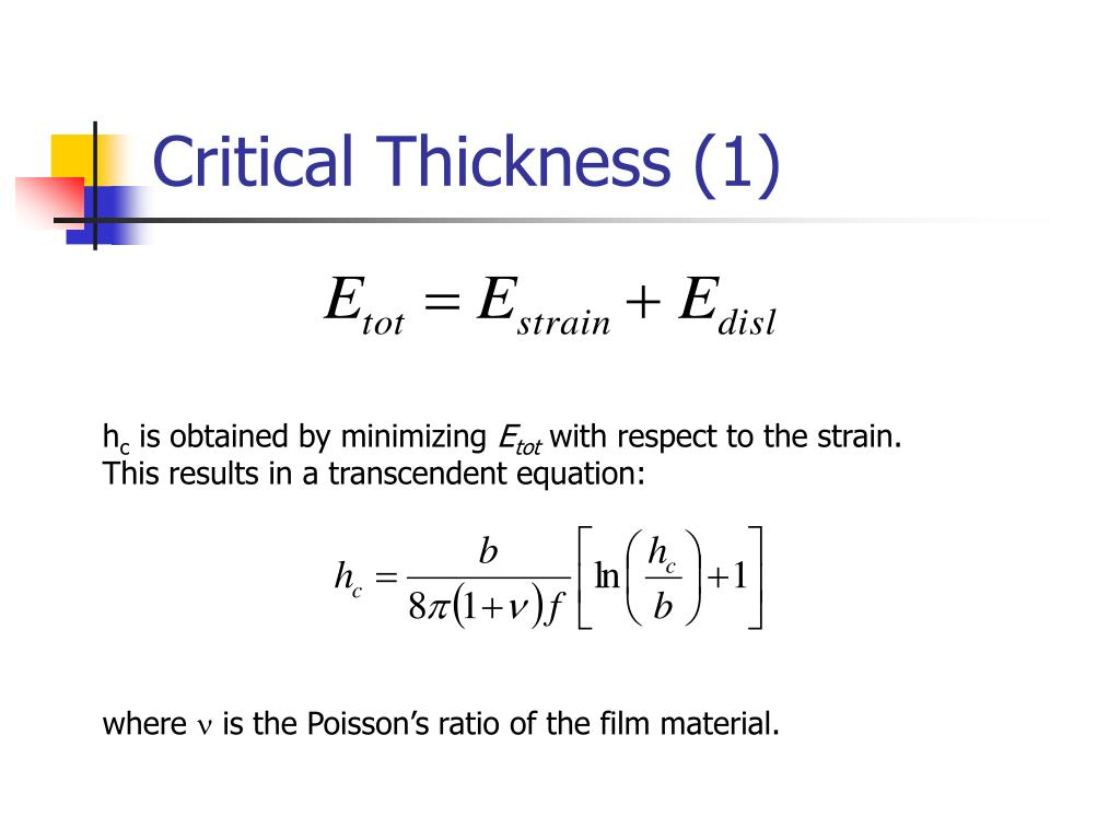 Critical Thickness (1)