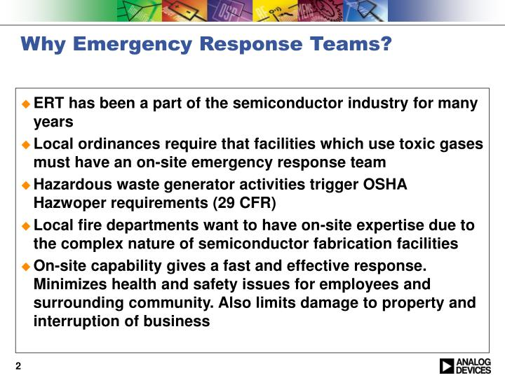 Why emergency response teams