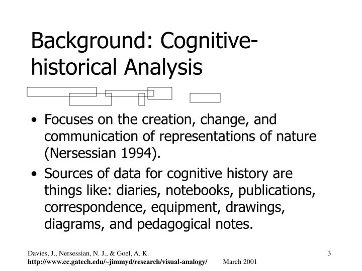 Background: Cognitive-historical Analysis