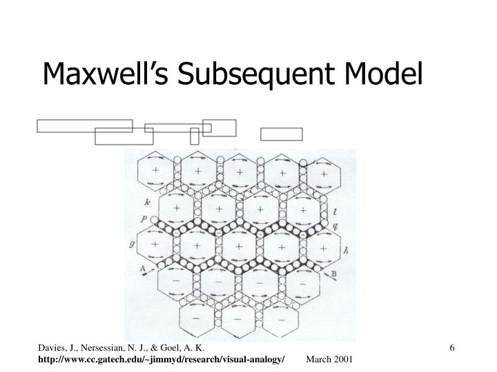 Maxwell's Subsequent Model